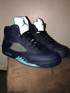 Image is loading Air-Jordan-5-Hornets-Midnight-Navy 5181c97aa