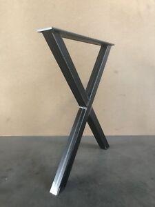 1 Stück Tischbeine Stahl Design Tischkufen Stützfuss Tischgestell X