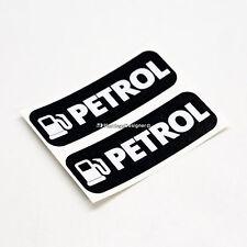 2x solo benzina carburante stratificato WEATHERPROOF Auto, Furgone, Taxi, Bus In Vinile Adesivi etichetta