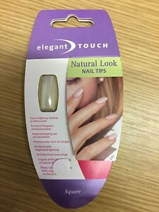 Image Is Loading Elegant Touch Square Natural Look Nail Tips