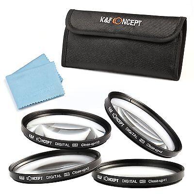 40.5 49 52 58 67 77 Close Up Macro +1 +2 +4 +10 Lens Filter Kit For Canon Nikon