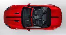 Jaguar F-Tipo Convertible capó/boot Raya Decal Set Llano. varios Colores.