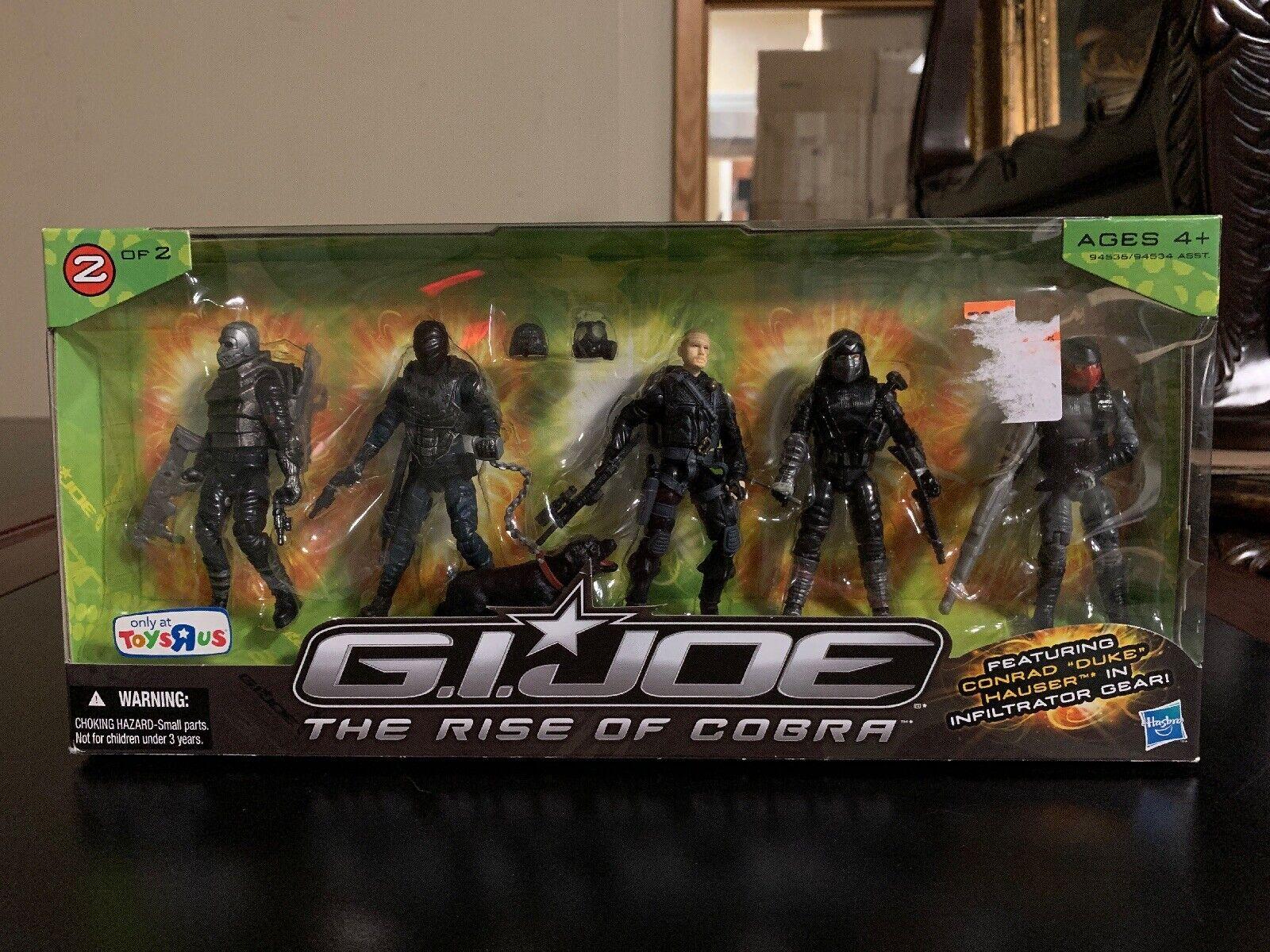 Gi Joe Rise Of Cobra Duke Infiltrator 2009 2 de 2 figuras de 5 Juguetes R Us Nuevo en caja sellada rareza