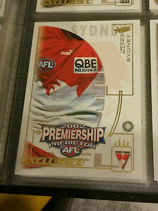 2002-Select-AFL-SPX-Card-Premiership-Predictor-PC14-Sydney