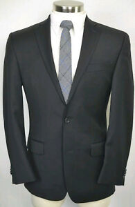 Michael-Kors-Men-039-s-Black-Wool-MOD-FIT-Blazer-Sport-Coat-Jacket-SIZE-41R