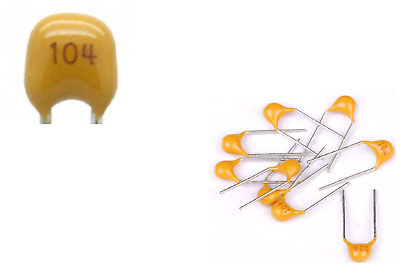 MULTILAYER CERAMIC CAPACITOR 5mm  PITCH  QTY = 10 MULTICOMP  50V  100nf 104