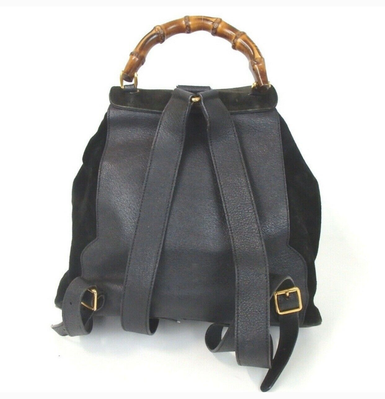 Authentic GUCCI bamboo Backpack - Daypack Suede L… - image 3