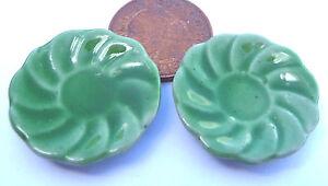 Échelle 1:12 2 Vert à Motifs Plaques En Céramique 2.5 Cm Tumdee Maison De Poupées Cuisine G5-afficher Le Titre D'origine