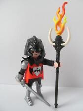 Playmobil Castle figure: Black dragon knight with sword & fire staff NEW