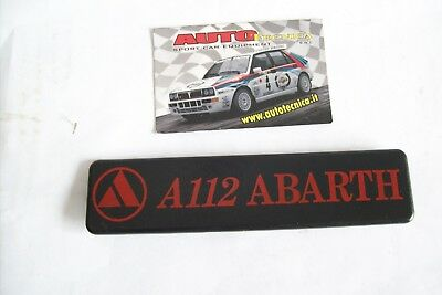 SCRITTA STEMMA SIGLA MODELLO LOGO POSTERIORE AUTOBIANCHI A112 ABARTH 1982 BAULE