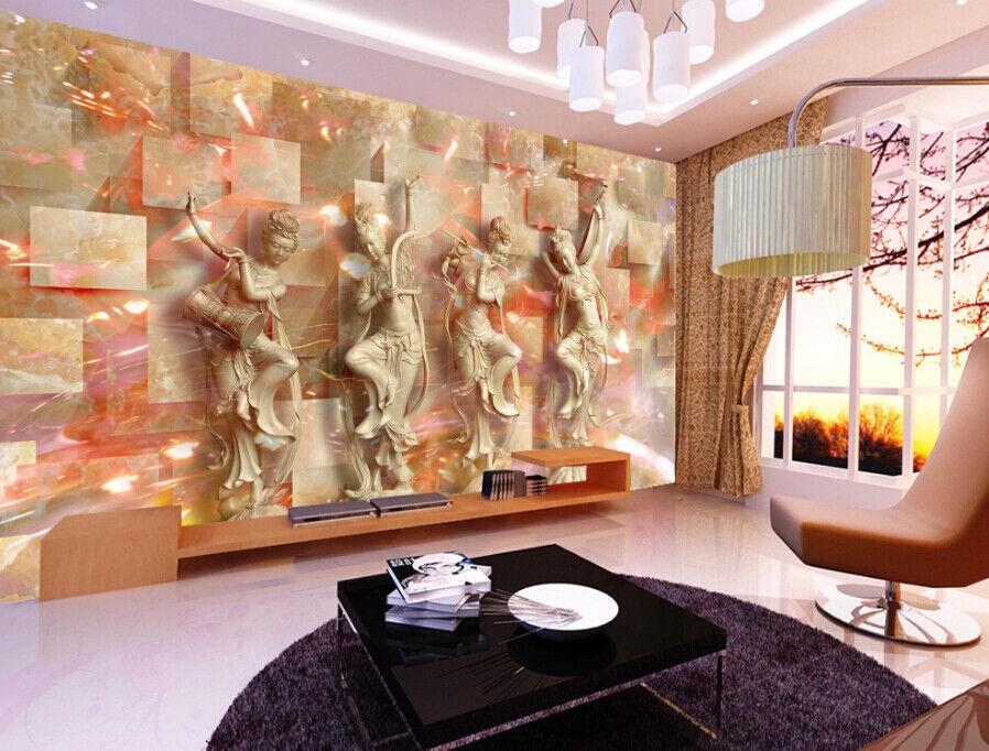 3D Jade Statue 68 Wall Paper Wall Print Decal Deco Indoor Wall Mural CA