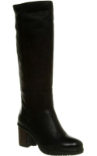 Womens Office Joplin Pull On  Boot Black  Leather Boots With Fur