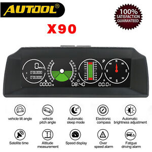 Autool-X90-Vehicle-Smart-GPS-Multi-functional-Horizontal-Speedometer-Slope-Meter