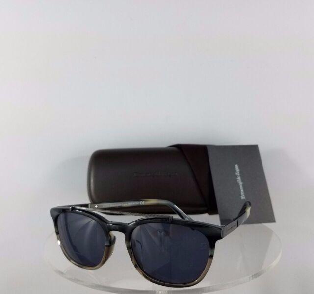 04be16235b06 Brand New Authentic Ermenegildo Zegna Sunglasses EZ 0044 64A 54mm Charcoal  Frame