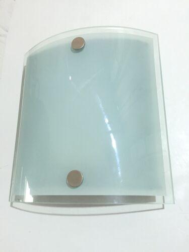 ETERNA D150 CURVED GLASS ATTRACTIVE MATT CHROME EFFECT WALL FITTING 2X 9W