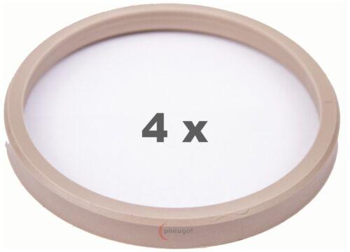 4 Piezas Anillas de centrado 76.0 a 67.1 beige