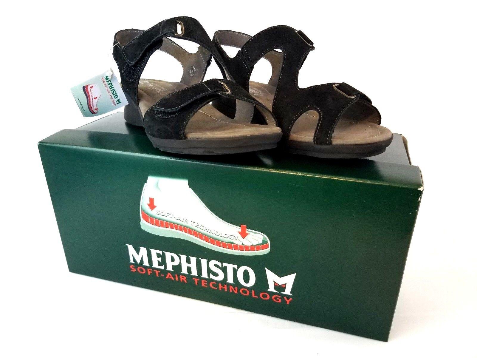 Mephisto Paris para Mujeres Sandalias Negro bucksoft 6900 100% caucho US 6 E36 Z447