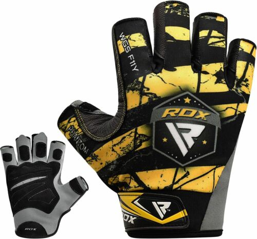 RDX Weight Lifting Gloves Gym Exercise Training Cycling Yoga Green Yellow White