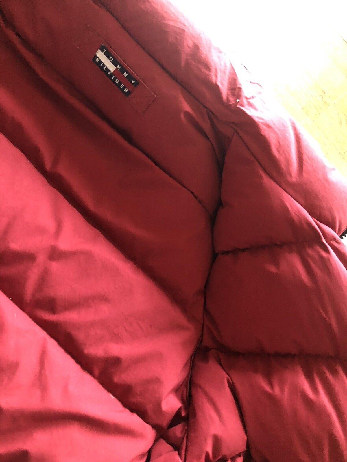 Tommy Hilfiger Mens Duck Down VTG Reversible Gree… - image 7