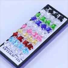 Wholesale Lots CZ 40pcs Stainless steel Mix Women Stud Earrings Freeshipping New