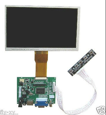 "7"" 7 inch TFT LCD Display Monitor  HDMI+VGA+2AV Driver Board for Raspberry Pi"