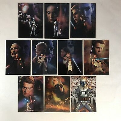Star Wars attack of the clones promo postcard uk only 2002