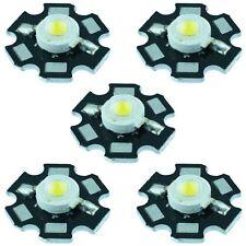 5 X White 3w High Power Star Pcb Led 260lm