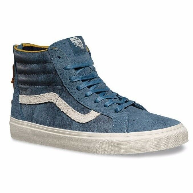 VANS Sk8 Hi Hi Hi Zip DX (Varsity) bluee Suede UltraCush Pro MEN'S 7 WOMEN'S 8.5 05328d