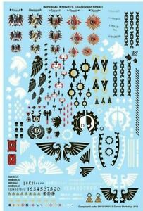NEW-Warhammer-40k-Bits-Parts-Imperial-Knights-Transfer-Sheet-Decals-new