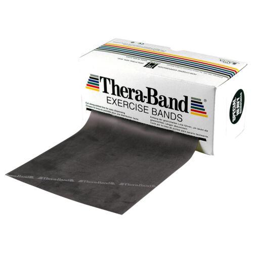 Thera Band Banda Esercizio Fitness Band physioband resistenza 5m fortemente Speciale Nero