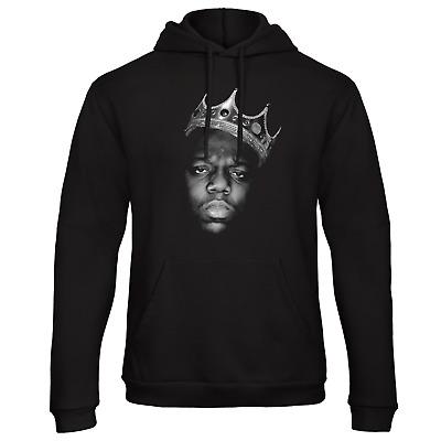 Biggie Smalls Mens Hoodie Big Hip-Hop 2pac Retro Mens Top The Notorious B.I.G