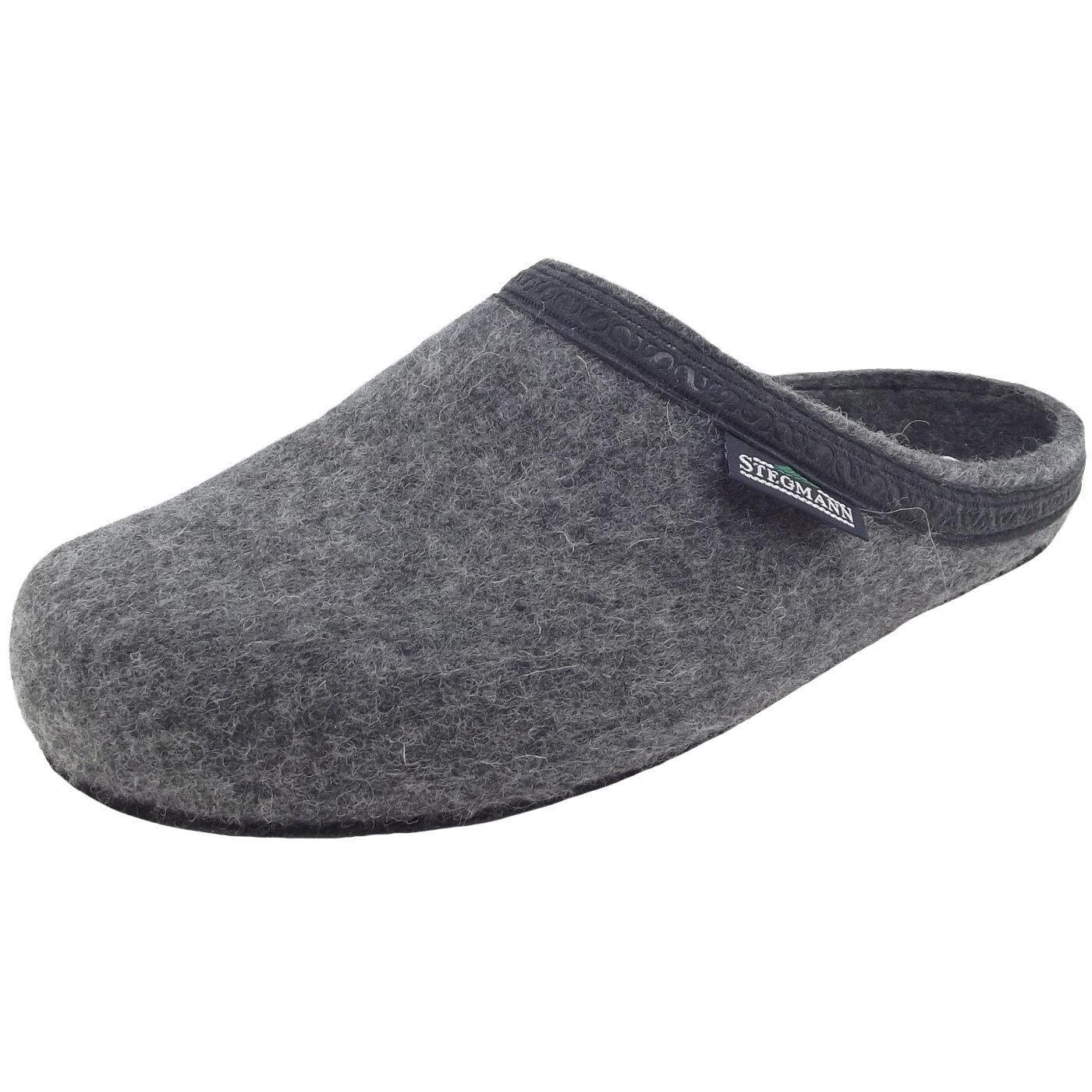Stegmann 127 Unisex Wollfilz-Pantoffeln grey (grey)