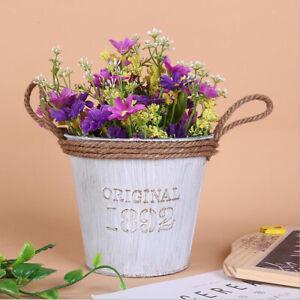 2x Retro Metal Planter Flowerpot Garden Watering Can Plant Pot Art Decor B+D