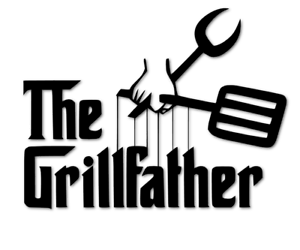 The Grillfather Aufkleber Grillen Godfather Mafia Grill Garten decal 24 #8349