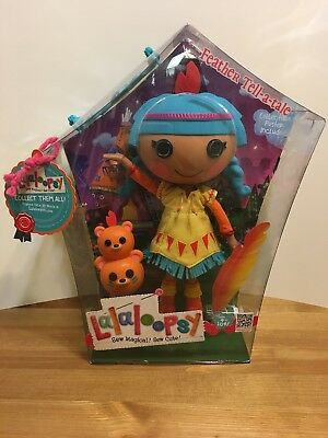 Lalaloopsy Feather Tell-A-Tale Mini Doll NIB with Pet Bear Totem and Accessories
