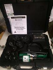 Greenlee 7310 Sb Ko 555 853 854 855 Hydraulic Knockout Punch Set Case 12 4