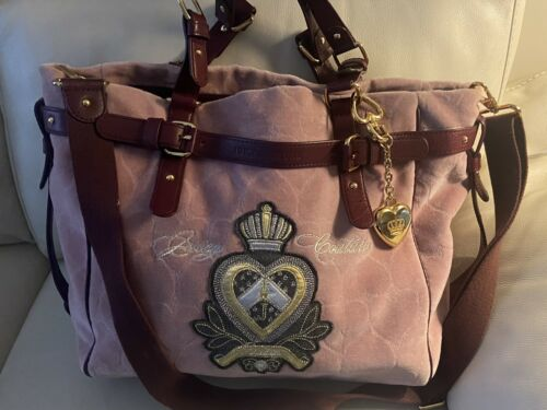 Juicy Couture - Large Pink Velour Daydreamer Cross