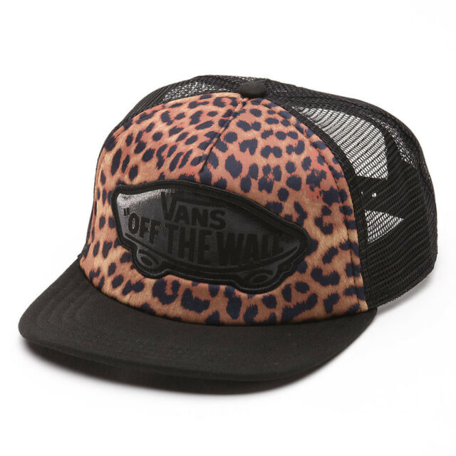 VANS BEACH GIRL Womens Trucker Hat (NEW w/ FREE SHIP) Snapback Cap LEOPARD Black