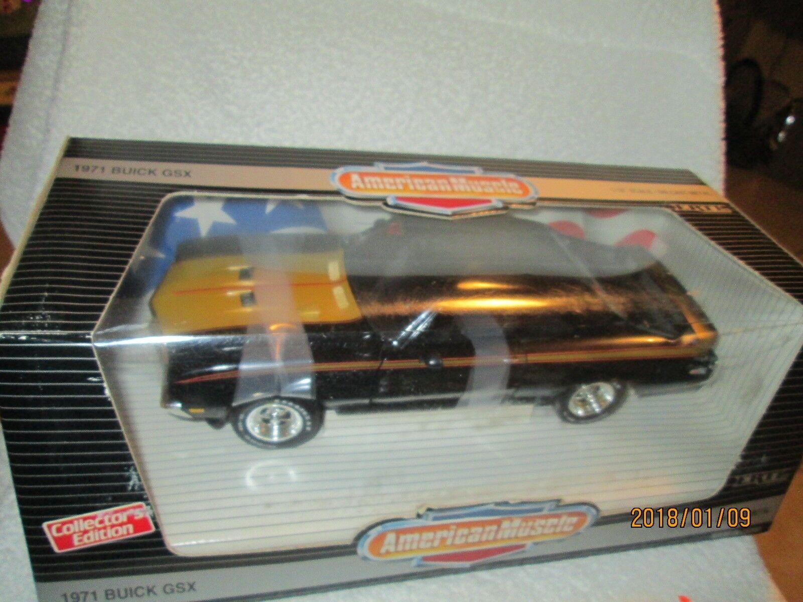 1971 Buick Gsx nero con oro American Muscle 1 18 Gran Deporte Edición Limitada