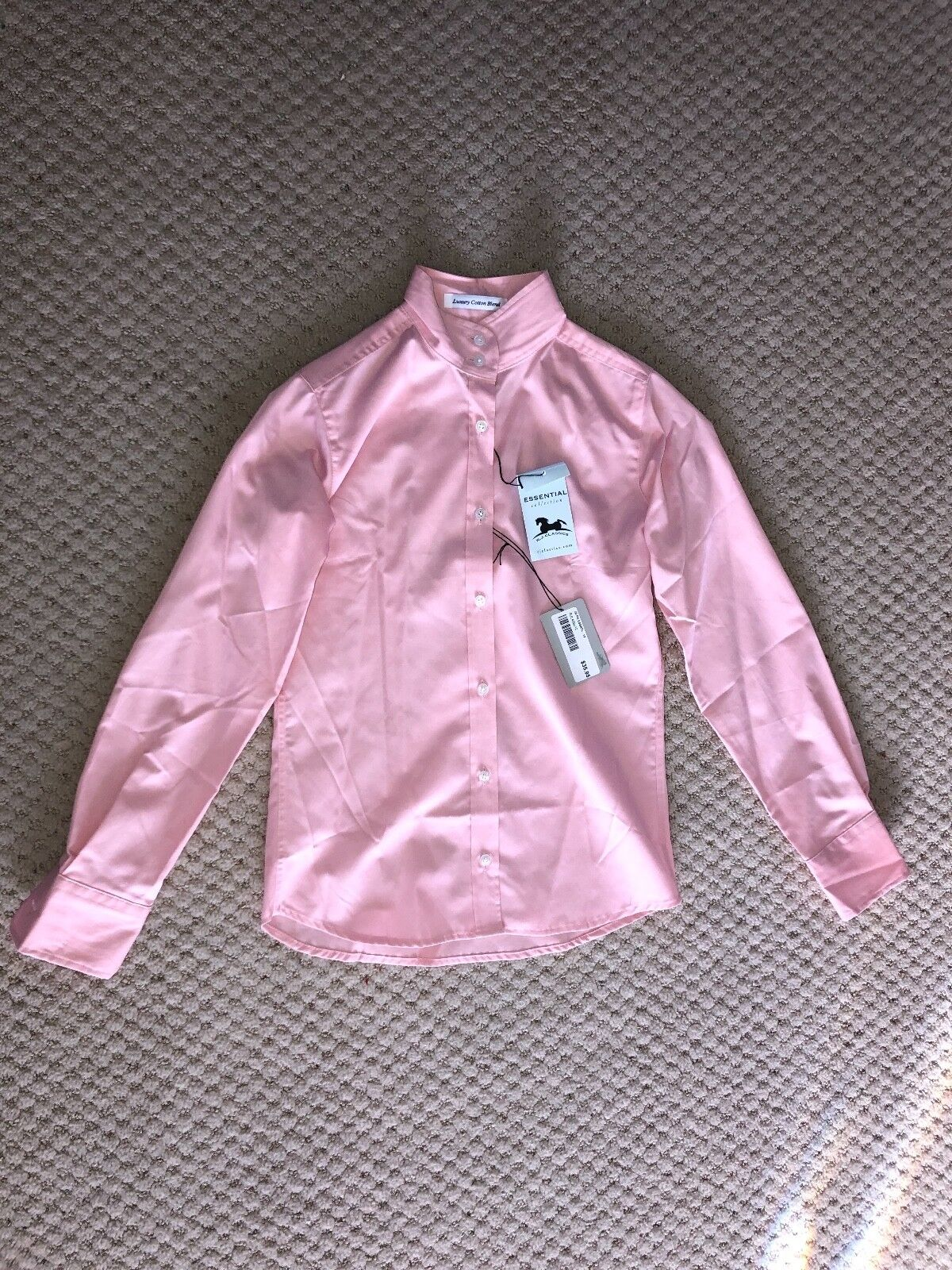 R.J.Classics Essential collection pink show shirt size 12