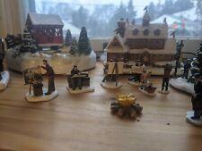 "Miniature  /""North Pole Reindeer Stables/"" with Hawthorne Village Thomas Kinkade"