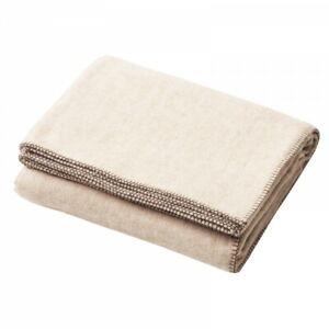 Creswick-320GSM-Australian-Alpaca-Wool-Blanket-Herringbone-Creme-in-KING-amp-QUEEN