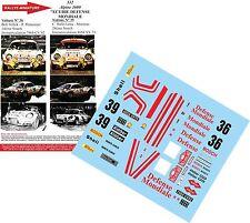 "DÉCALS 1/18 réf 532 Alpine 1600 ""ECURIE DEFENSE MONDIALE Rallye Monte Carlo 1973"