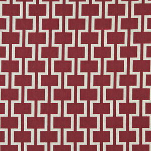 Image Is Loading A0006a Red Off White Modern Geometric Upholstery Fabric