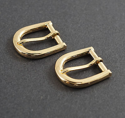 #265G horse shoe styl Gold Color NEW 2 buckles 3//4 inch//20mm Belt Buckle set