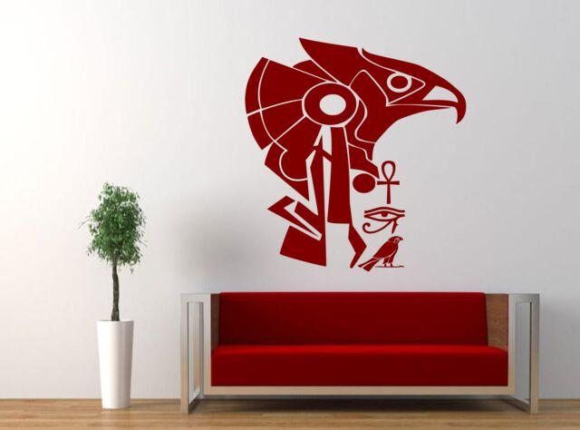 Egyptian God Horus Eye of Horus Ankh Wall Art Decal Sticker Boys girls Bedroom