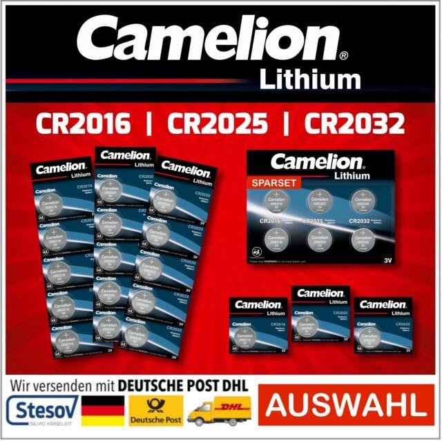 Camelion Piles Bouton CR2016 CR2025 CR2032 Lithium Batteries Blister Séléction