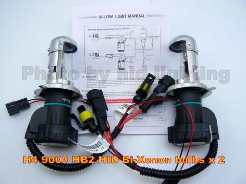 2 x HID H4 9003 HB2 Bi Xenon Hi High Lo Low bulb 4300K 35W 12V light lamp