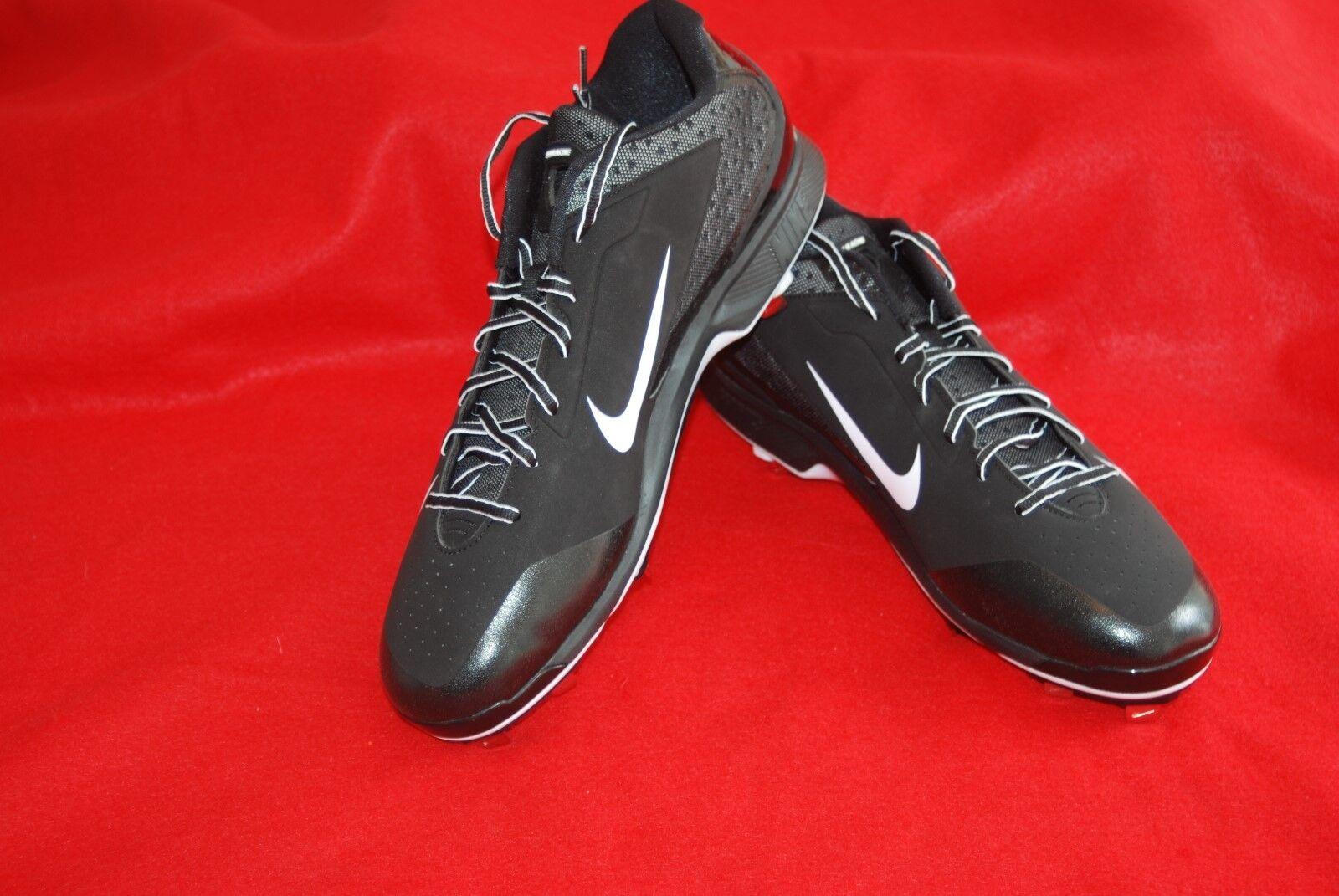 Nike Air Huarache Pro Low Metal Mens Baseball Cleat Black White 599233-001 Sz 16  best-selling model of the brand