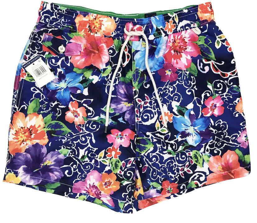 Men's POLO RALPH LAUREN colors Tropical Floral Swimsuit Swim Trunks S Small NWT